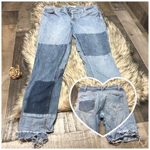 Free People Size 27 Jeans Womens  Patch Distressed